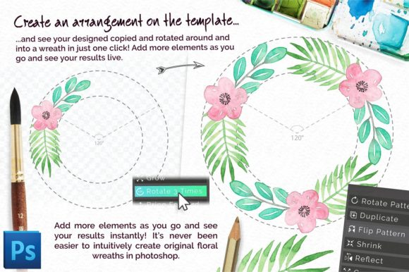 Download Free Universal Wreath Creator Graphic By Digital Hustler Creative for Cricut Explore, Silhouette and other cutting machines.