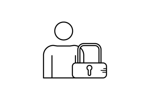 Print on Demand: User Lock Graphic Icons By khld939