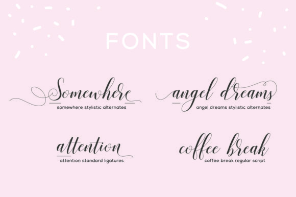 Print on Demand: Valencia Script Script & Handwritten Font By fanastudio - Image 3
