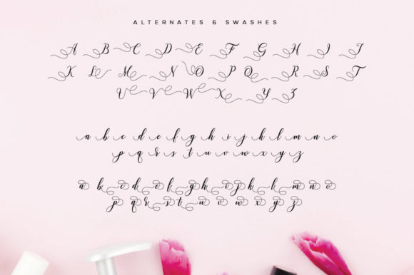 Print on Demand: Valencia Script Script & Handwritten Font By fanastudio - Image 26