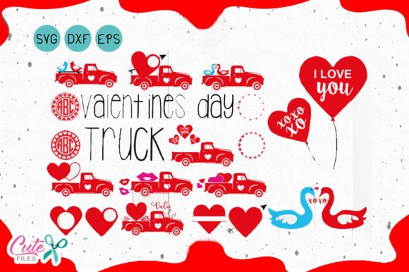 Valentine S Day Truck Svg Graphic By Cute Files Creative Fabrica