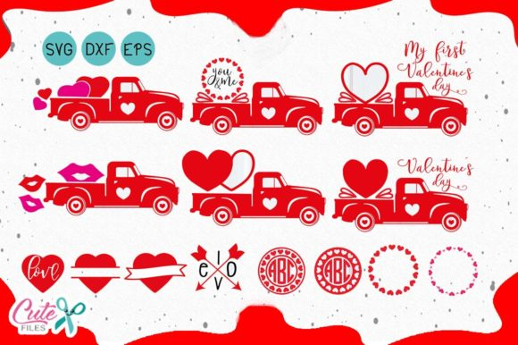 Valentine's Truck  Graphic Objects By Cute files