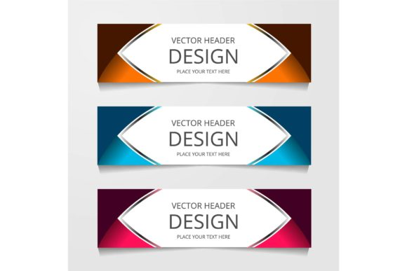 Download Free Vector Abstract Banner Design Modern Web Template Graphic By for Cricut Explore, Silhouette and other cutting machines.