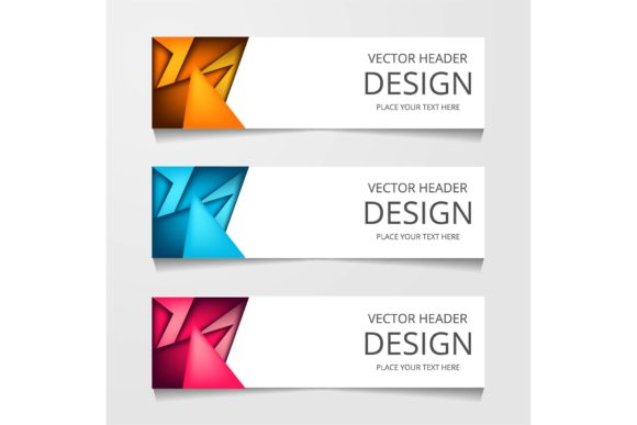 Download Free Vector Abstract Web Banner Design Template Graphic By for Cricut Explore, Silhouette and other cutting machines.