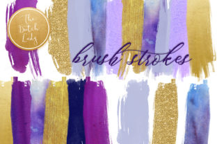 Print on Demand: Vertical Brush Stroke Clipart Set Graphic Crafts By daphnepopuliers