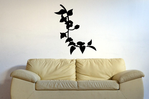 Vine Flowers Silhouette Fits 18x50 in Wall Art Craft Cut File By Creative Fabrica Crafts