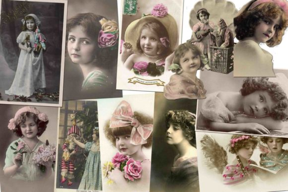 Print on Demand: Vintage Photo Cards Graphic Illustrations By retrowalldecor