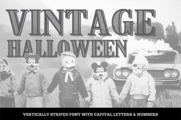 Print on Demand: Vintage Display Font By bywahtung - Image 2