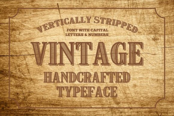Print on Demand: Vintage Display Font By bywahtung