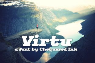 Virtu Font By Chequered Ink
