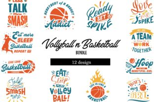 Download Free Volley Basketball Bundle Grafico Por Graphicrun123 Creative for Cricut Explore, Silhouette and other cutting machines.
