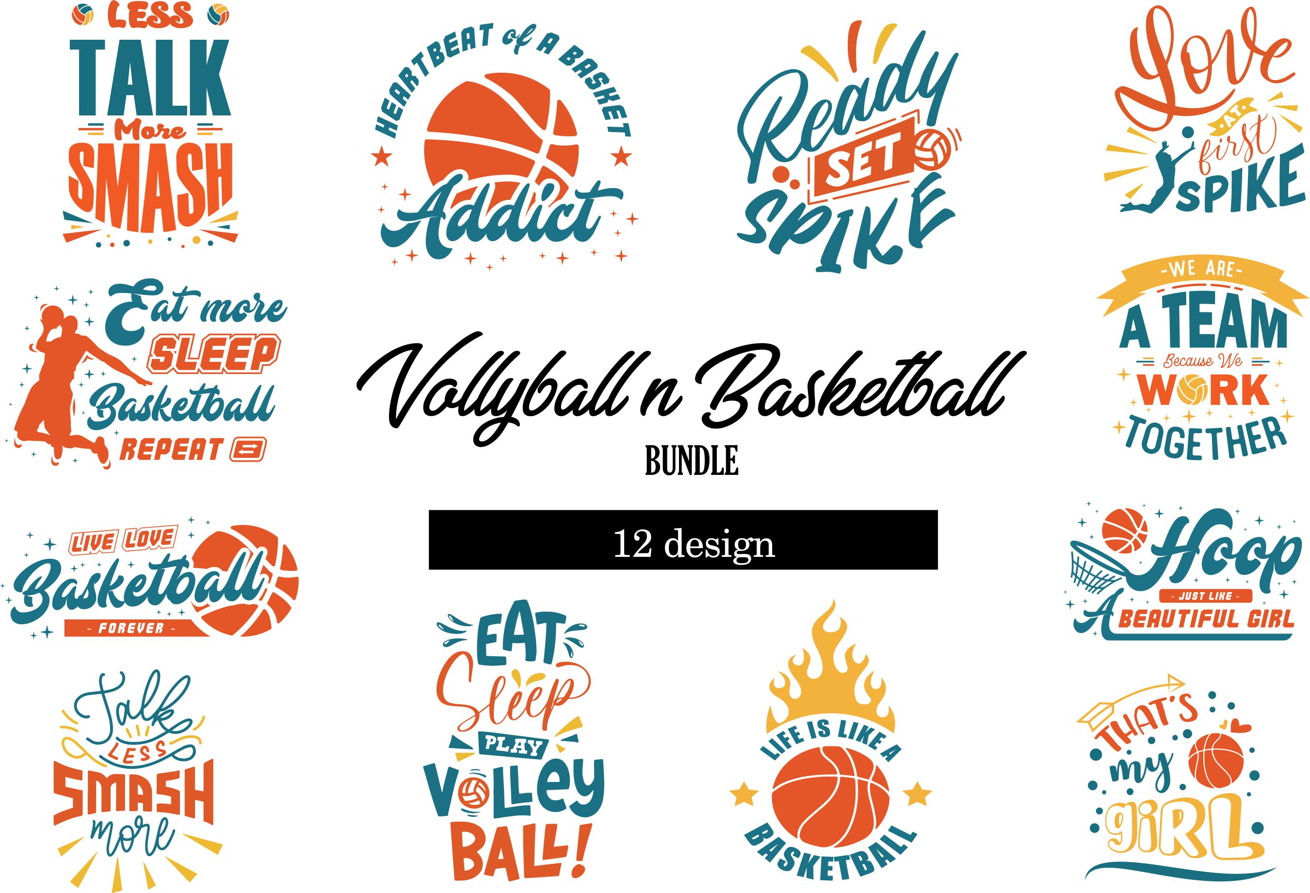 Download Free Volley Basketball Bundle Graphic By Graphicrun123 Creative for Cricut Explore, Silhouette and other cutting machines.