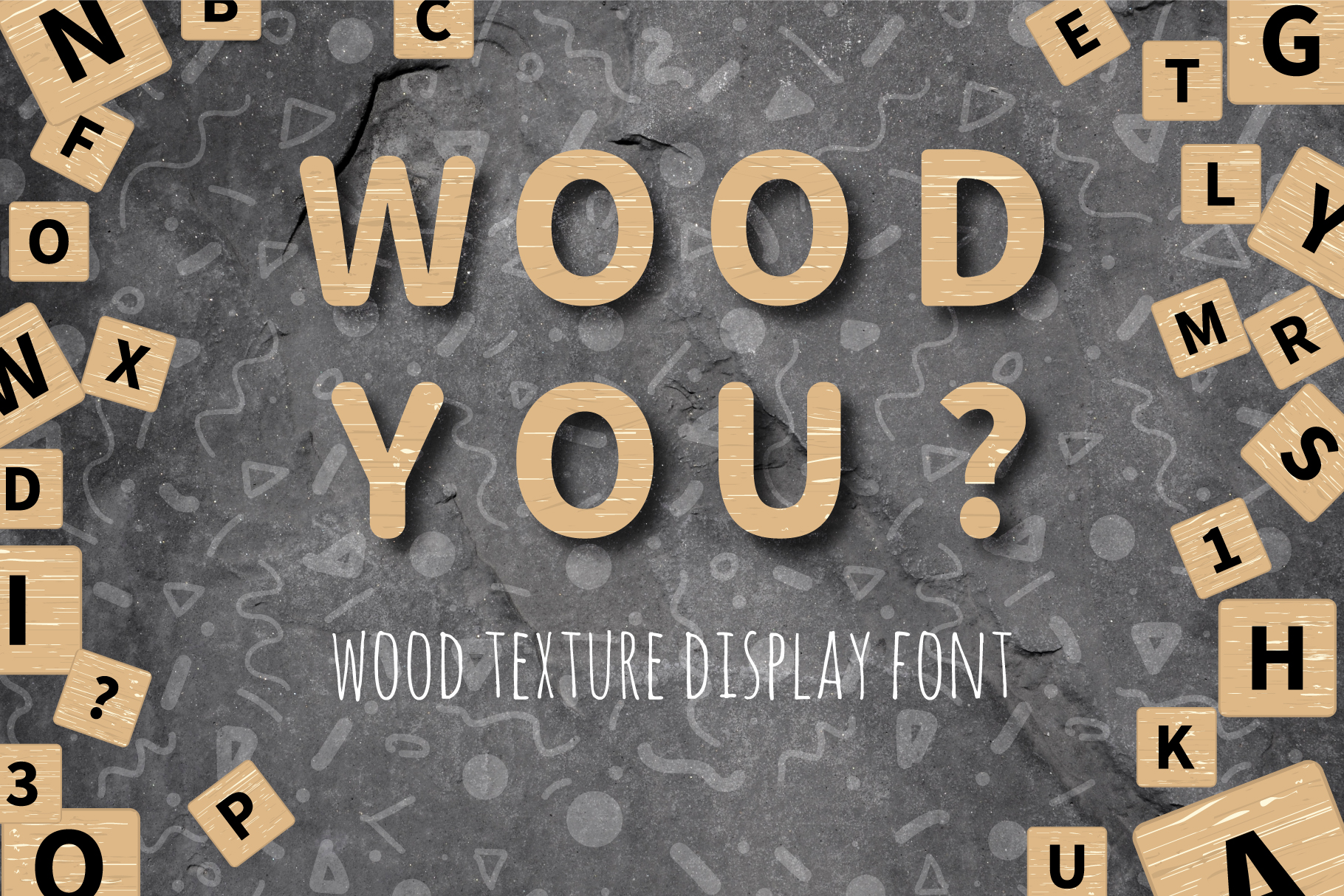 Download Free Wood You Wood Texture Font Graphic By Elenachooart Creative for Cricut Explore, Silhouette and other cutting machines.