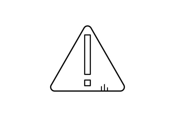 Print on Demand: Warning Graphic Icons By khld939