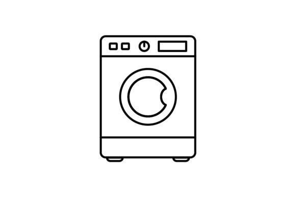 Print on Demand: Washing Machine Graphic Icons By khld939 - Image 1