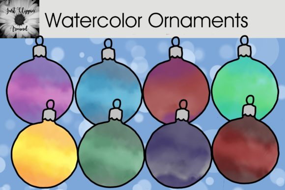 Water Color Ornaments Graphic Illustrations By justclippinaround