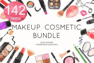 Download Free Watercolor Makeup Cosmetic Bundle Graphic By Bonadesigns for Cricut Explore, Silhouette and other cutting machines.