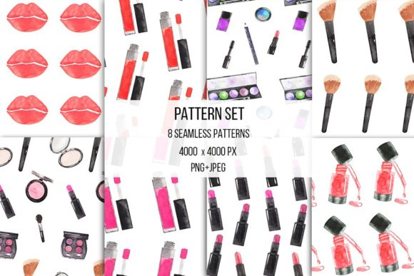 Download Free Watercolor Makeup Cosmetic Clipart Graphic By Bonadesigns for Cricut Explore, Silhouette and other cutting machines.