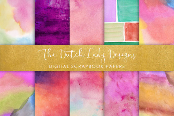 Print on Demand: Waterpaint Texture Scrapbook Papers Multicolor Graphic Textures By daphnepopuliers
