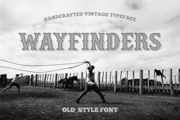 Print on Demand: Wayfinders Serif Font By bywahtung