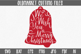 We Wish You a Merry Christmas - Christmas SVG Cut File Graphic By oldmarketdesigns