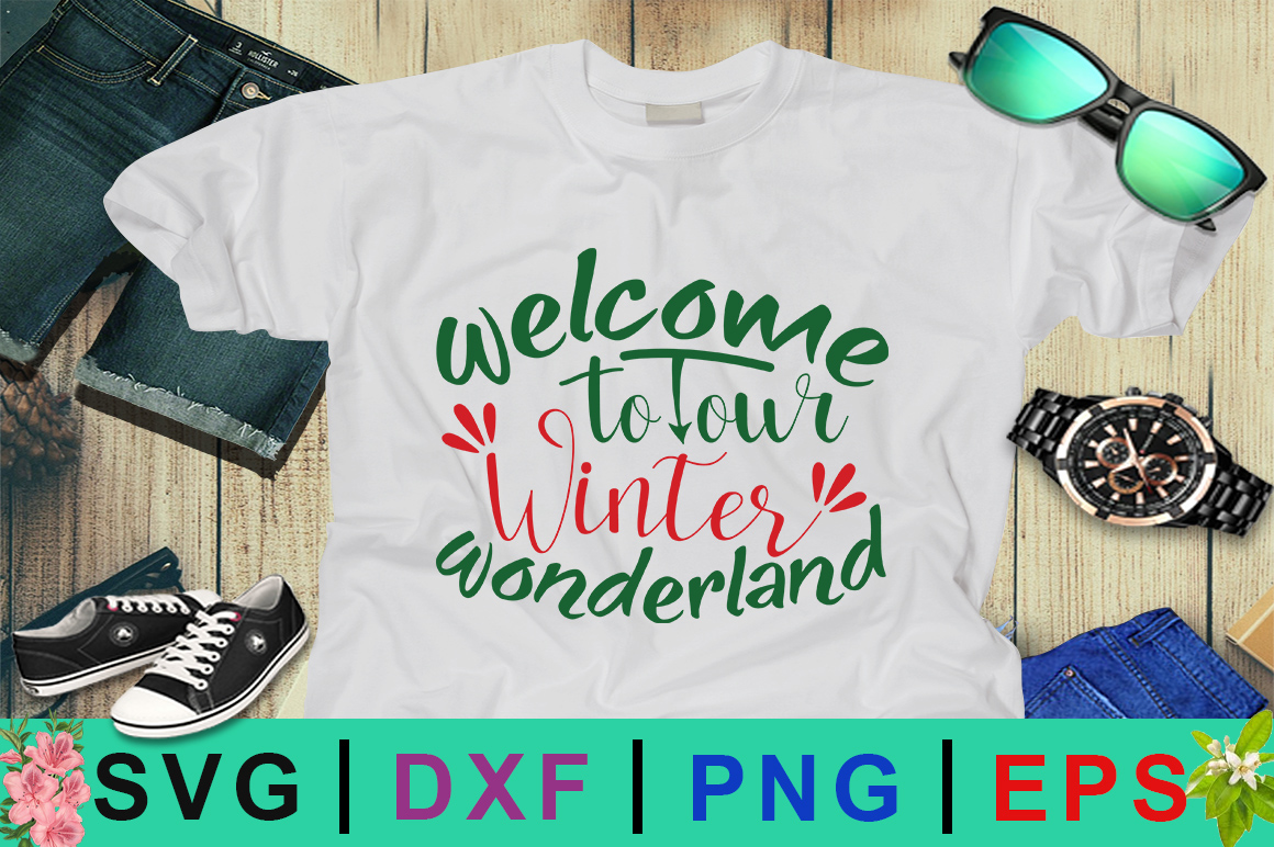 Download Free Welcome To Our Winter Wonderland Svg Graphic By Design Palace for Cricut Explore, Silhouette and other cutting machines.