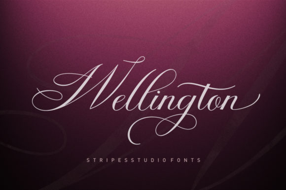 Wellington Script Script & Handwritten Font By Stripes Studio