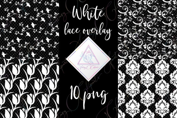 Print on Demand: White Lace Overlay Clipart Graphic Illustrations By fantasycliparts