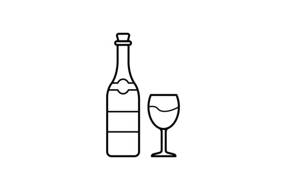 Print on Demand: Wine Bottle Graphic Icons By khld939