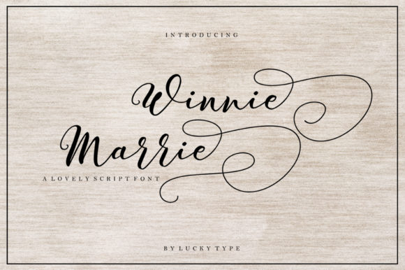 Print on Demand: Winnie Marrie Script & Handwritten Font By luckytype.font