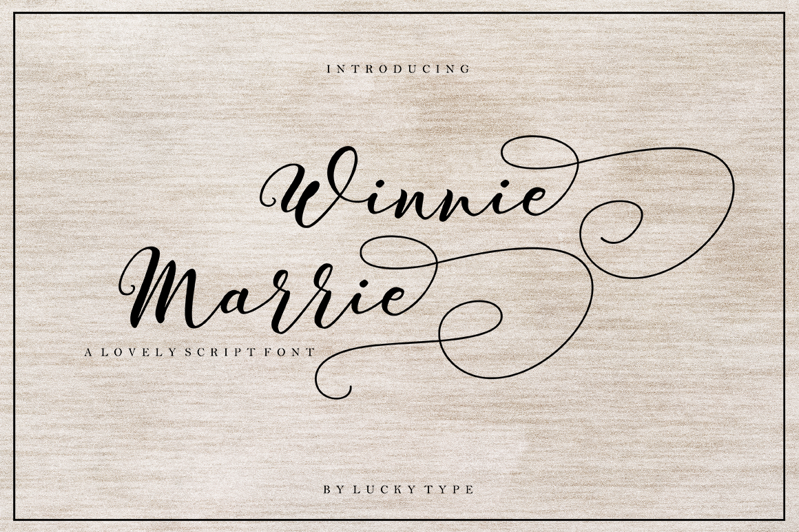 Download Free Winnie Marrie Font By Luckytype Font Creative Fabrica for Cricut Explore, Silhouette and other cutting machines.