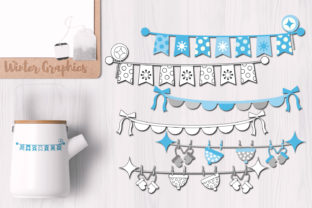 Winter Bunting Banners Graphic By Revidevi
