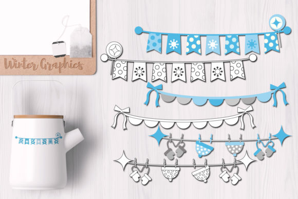 Print on Demand: Winter Bunting Banners Graphic Illustrations By Revidevi