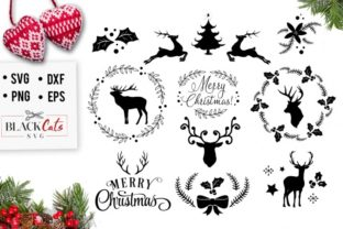 Download Free Winter Christmas Pack Graphic By Blackcatsmedia Creative Fabrica for Cricut Explore, Silhouette and other cutting machines.