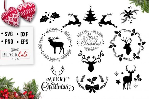 Print on Demand: Winter Christmas Pack Graphic Crafts By BlackCatsMedia