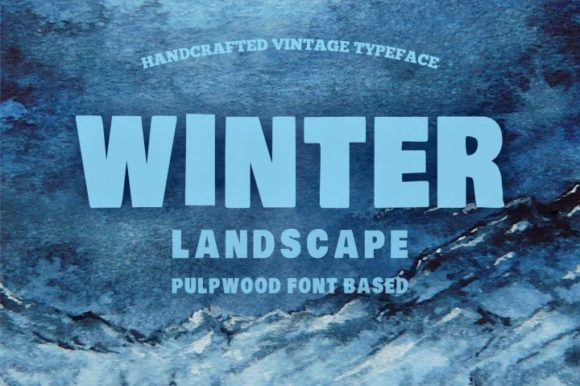 Print on Demand: Winter Landscape Serif Font By bywahtung