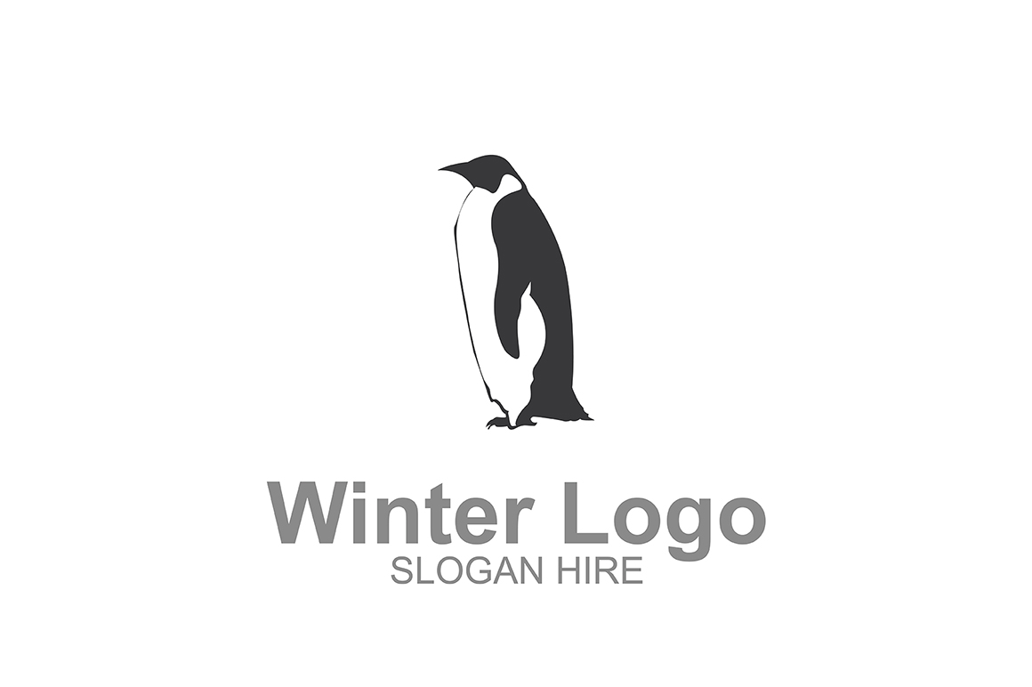 Download Free Penguin Winter Logo Icon Graphic By Guardesign Creative Fabrica for Cricut Explore, Silhouette and other cutting machines.