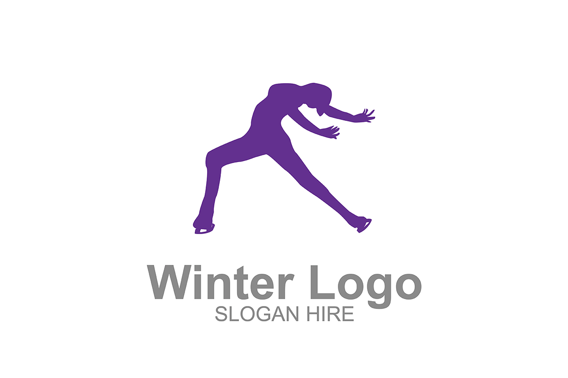 Download Free Winter Ice Skating Logo Icon Graphic By Guardesign Creative for Cricut Explore, Silhouette and other cutting machines.