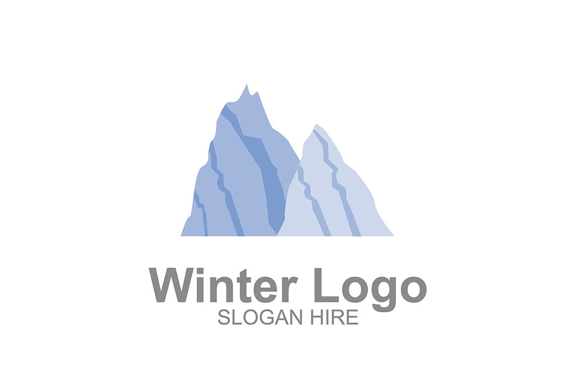 Download Free Winter Mountains Logo Icon Graphic By Guardesign Creative Fabrica for Cricut Explore, Silhouette and other cutting machines.