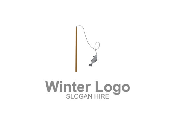 Download Free Winter Fishing Rod Logo Icon Graphic By Guardesign Creative for Cricut Explore, Silhouette and other cutting machines.
