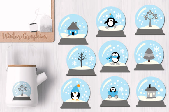 Print on Demand: Winter Snow Globes Graphic Illustrations By Revidevi