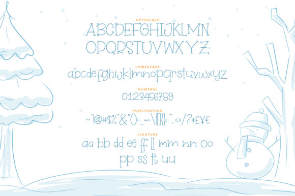 Print on Demand: Winterland Display Font By Khurasan - Image 6