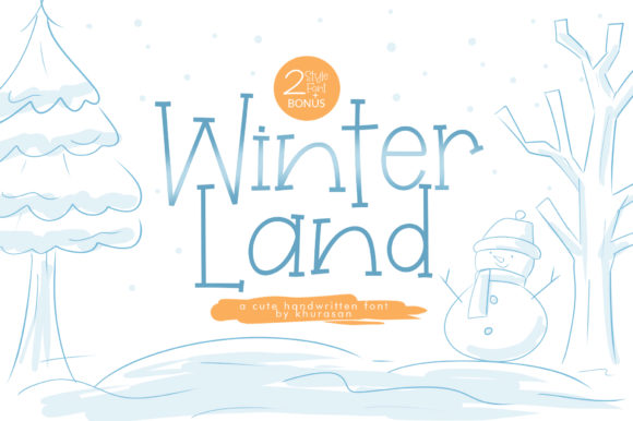 Print on Demand: Winterland Display Font By Khurasan