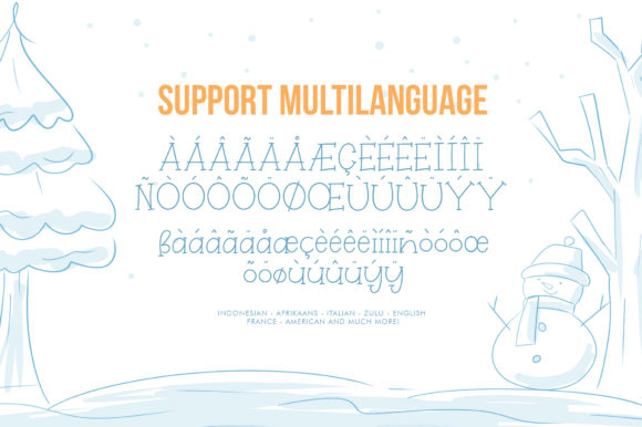 Print on Demand: Winterland Display Font By Khurasan - Image 7