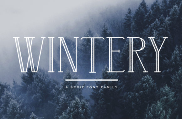 Print on Demand: Wintery Family Serif Font By Christine Teixeira - Image 1