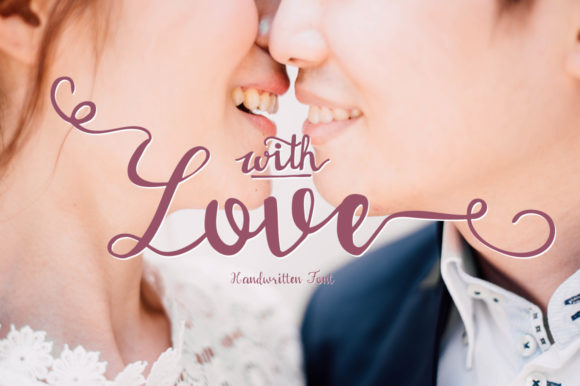Print on Demand: With Love Script & Handwritten Font By PaulaType