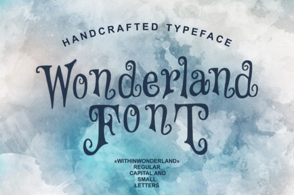 Print on Demand: Wonderland Script & Handwritten Font By bywahtung
