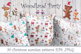 Cute Woodland Christmas Party Graphic By Olga Belova