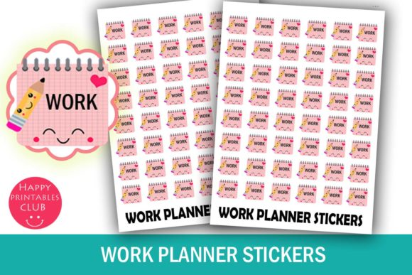 Print on Demand: Work Planner Stickers Graphic Crafts By Happy Printables Club