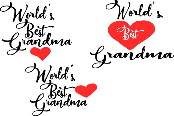Download Free World S Best Grandma Graphic By Karen Lemaire Creative Fabrica for Cricut Explore, Silhouette and other cutting machines.